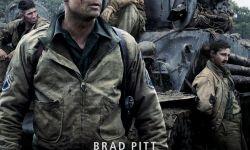 电影《狂怒》海报发布:皮特表情严肃 军人范儿十足