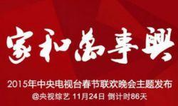 """2015年羊年央视春晚:主题""""家和万事兴""""  新媒体将直播"""