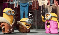 动画片《小黄人》片段:斯图尔特与消防栓热聊