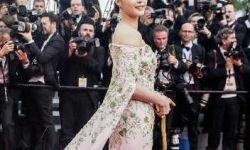 戛纳电影节官方画面只见范冰冰背影 张馨予服装造型出位