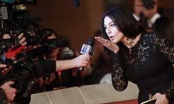 意大利女星莫妮卡·贝鲁尼一袭黑裙出席罗马电影节