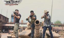 探班电影《战狼2》片场:卡车被坦克