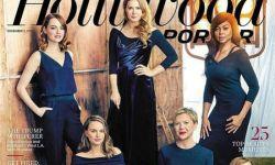"""具有""""获奖相""""的好莱坞女星登上《好莱坞报道者》封面"""