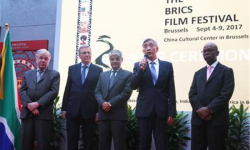 """""""金砖国家电影节""""在布鲁塞尔中国文化中心隆重开幕"""