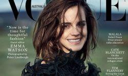 影星艾玛·沃森为《Vogue》澳洲版拍摄黑白大片