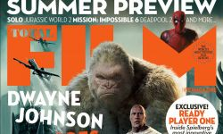 《狂暴巨兽》强森巨怪同框杂志封面 全新剧照片场照曝光