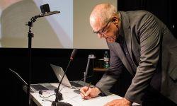 动画界的传奇人物格兰·基恩出席动画电影《奔月》在上海的启动仪式