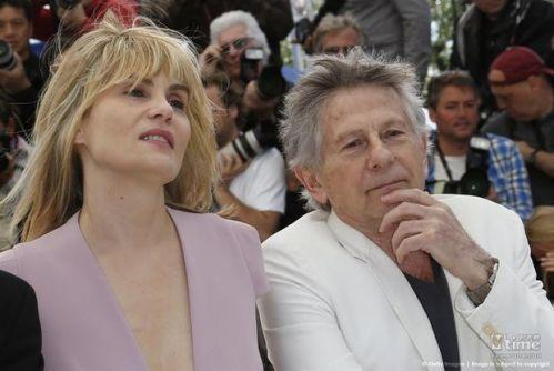 艾玛纽尔·塞尼耶与丈夫罗曼波兰斯基