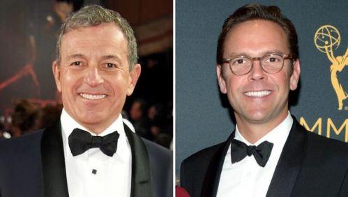 迪士尼CEO鲍勃·艾格(左),和福斯CEO詹姆斯·默多克