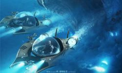 《巨齿鲨》发布全新海报  斯坦森和李冰冰与鲨鱼竞速