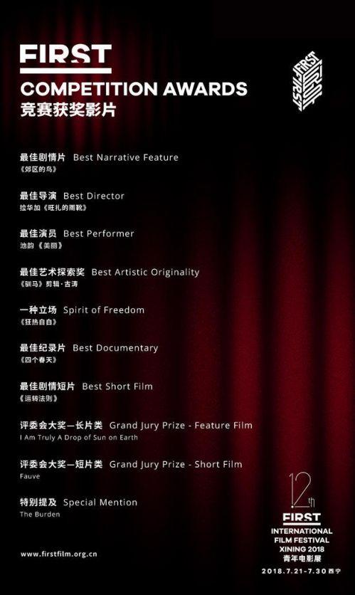 第12届FIRST影展竞赛获奖片单