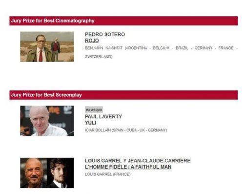 圣塞巴斯蒂安电影节各大奖项在官网公布
