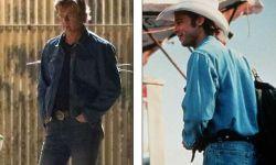 皮特《好莱坞往事》牛仔造型抢眼 最新洛杉矶片场照曝光