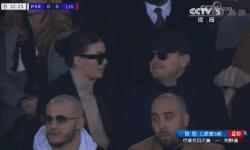 小李子与女友观看球赛,网友:女友大笑神似安妮海瑟薇