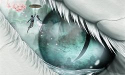 黄海设计《白蛇:缘起》国际版海报 白蛇为爱凄美落泪