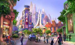 上海迪士尼乐园开辟《疯狂动物城》园区 概念图率先发布