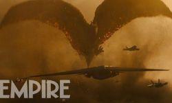 """电影《哥斯拉2:怪兽之王》新剧照 """"拉顿""""摧毁战机"""