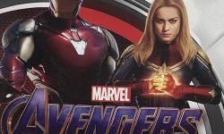 电影《复联4》最新海报,钢铁侠惊奇队长同框,C位即将交接