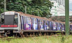 """想坐!香港首列""""复联4""""港铁列车运行"""