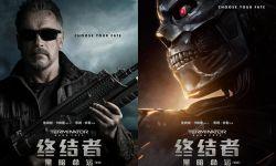 施瓦辛格还原经典造型  《终结者:黑暗命运》发人物海报