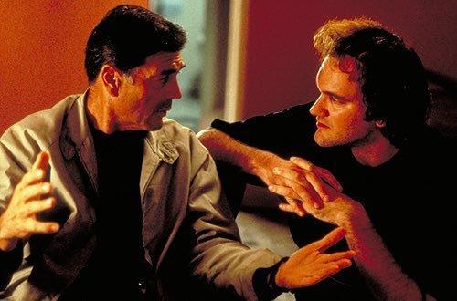 罗伯特·福斯特和昆汀在《危险关系》片场