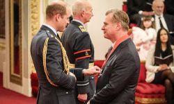 诺兰获颁大英帝国司令勋章,剑桥公爵威廉王子授勋