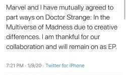导演斯科特退出《奇异博士2》:和漫威创意不同
