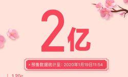 春节档预售票房超2亿,《唐人街探案3》1.2亿领跑!