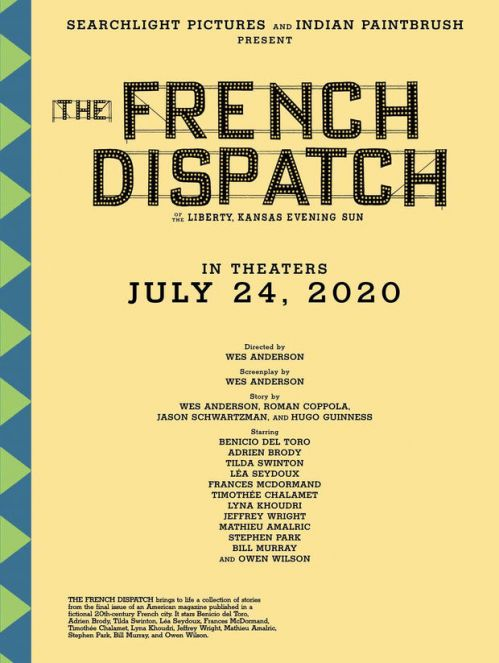《法兰西特派》海报