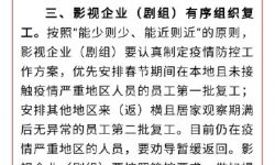 横店影视城:影视企业(剧组)复工时间不得早于2月12日24时
