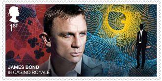 英国皇家邮政发行《007:无暇赴死》纪念邮票