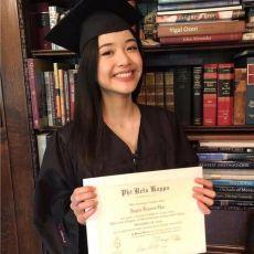 陈冲大女儿哈佛毕业照曝光,笑容甜美神似母亲