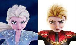 法国网友把漫威超级英雄和迪士尼动画角色进行跨界