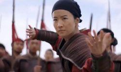 新版《花木兰》正片曝光,刘亦菲踢长枪与男兵对打