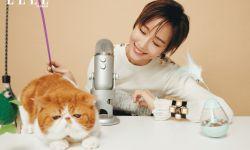 张钧甯吸猫杂志大片,眼神治愈展现满满亲和力