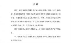 杨幂工作室发布辟谣声明:已委托律师保全证据