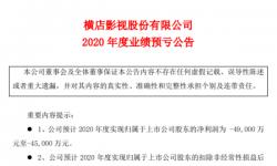 横店影视2020年预计亏损4.5亿-4.9亿同比由盈转亏 旗下所有影院暂停营业