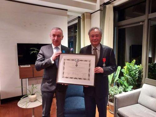 李安获颁法国国家荣誉军团骑士勋章