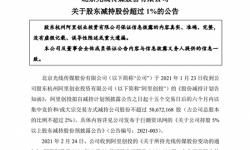 光线传媒:阿里创投累计减持1.14%公司股份