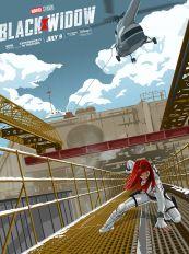 漫威新片《黑寡妇》公布新艺术海报 白衣尽显英姿!