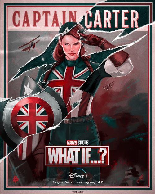 漫威动画剧集《假如》公布新海报佩姬变英国队长