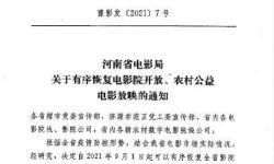 河南省9月1日起有序恢复电影院开放 要求控制上座率