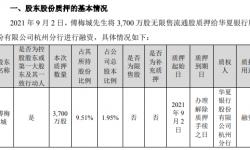 华策影视控股股东傅梅城质押3700万股 用于融资