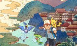 电影《宝可梦皮卡丘和可可的冒险》热映  中国风手绘海报曝光